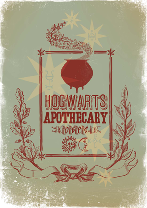File:Hogwarts™ Apothecary Dept Stamp 2 - Harry Potter and the Half-Blood Prince™.png