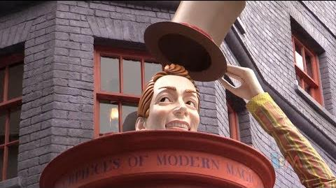 Diagon Alley stores tour - Weasleys Wizard Wheezes, Ollivanders, Borgin & Burkes, and more