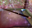 Ebony and unicorn hair wand