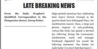 LATE BREAKING NEWS