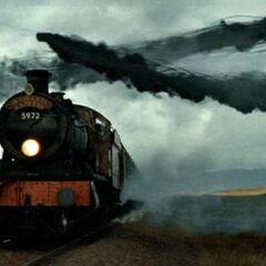 Поезд атакуют Пожиратели Смерти