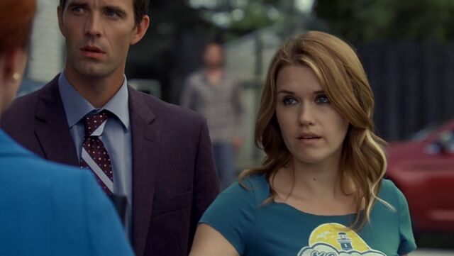 File:The Trouble with the Troubles - Audrey working with nathan hansen.jpg