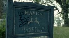 Haven Hunt Club Sign
