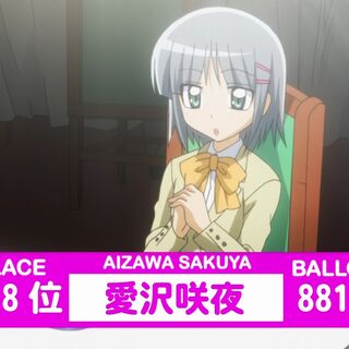 Sakuya's Result in the 2nd popularity contest shown in the anime