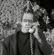Herman Munster at party