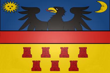 Transylvania Flag 3d light