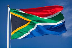 South africa flag sky