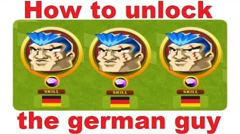 How to unlock the german guy in Headsoccer TUTORIAL