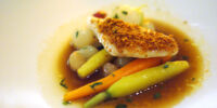 John Dory with Butternut Squash Soup