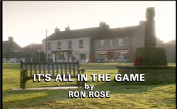 Its All in the Game title card
