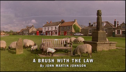 A Brush With the Law title card