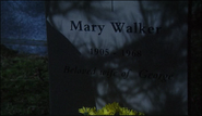 The grave of Mary Walker