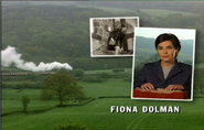 Fiona Dolman as Jackie Lambert in the 1998 Opening Titles