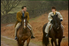 Nick and Jo out riding in A Long Shot