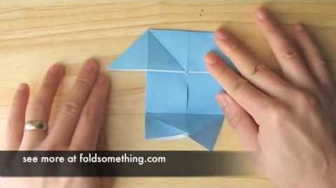 How to make an origami pajarito (small bird) from the pig (boat windmill) base