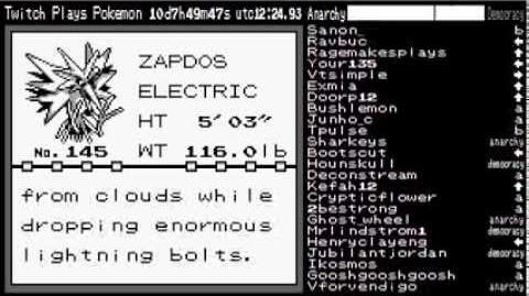Zapdos Caught! - TwitchPlaysPokemon Highlights