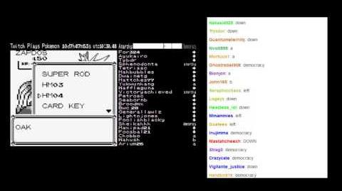 Twitch Plays Pokemon - Zapdos Captured under Anarchy (AA-j)