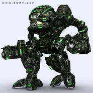 Character-sci-fi-3D-lowpoly-mech-robots-collection 08