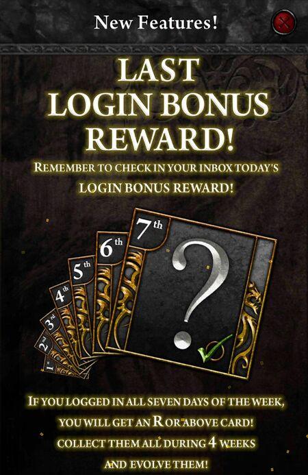 Last Login Bonus