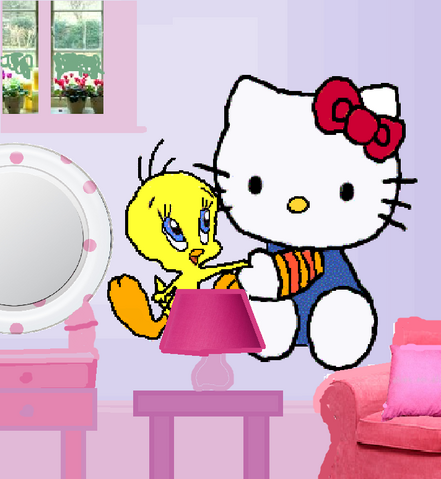 File:New Tweety and Hello Kitty wall decals..png