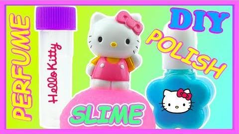 Hello Kitty Make Your Own Nail Polish and Perfume and SLIME Playset