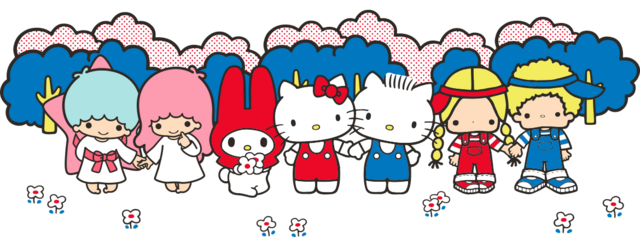 File:Sanrio Characters Little Twin Stars--My Melody--Hello Kitty--Dear Daniel--Patty & Jimmy Image001.png