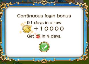 Login bonus day 51