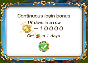 Login bonus day 19