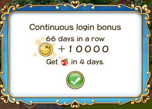 Login bonus day 66