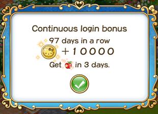 Login bonus day 97