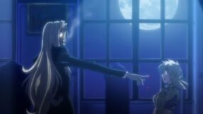 Integra offers her blood to Seras