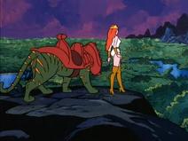 Rhea and Battle Cat