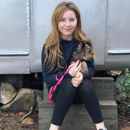 Ella and her dog