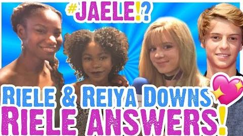 Riele Downs and Jace Norman JAELE ANSWER & Reiya Downs Talks DEGRASSI Info!