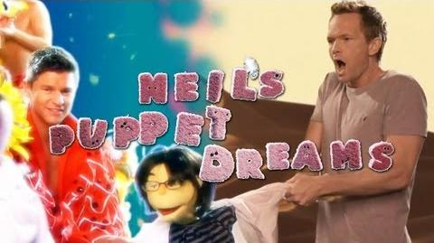 NPH & JOE MANGANIELLO crash DAVID BURTKA'S DREAM BUMP - Neil's Puppet Dreams
