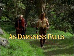 Darkness falls title