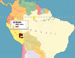 Qusqu (town) Worldwide Map