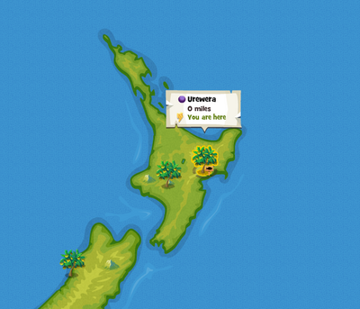 Urewera location