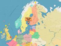 Aland Islands world map
