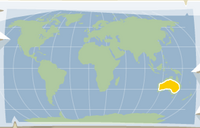 Sturt Desert Pea location map