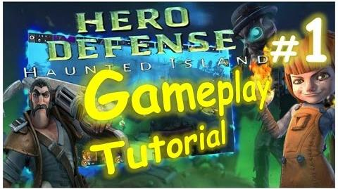 Let's Play Hero Defense - Haunted Island - Tutorial 001 Playthrough Gameplay