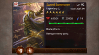 Sword Summoner 7 card Sub Max