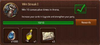 Win streak 1