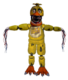 Withered chica full body request by joltgametravel-d9cf756