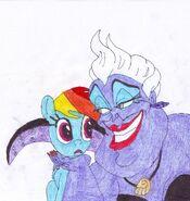 Rainbow Dash and Ursula0001
