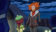 Lysandre lying to Mairin about healing her Chespin