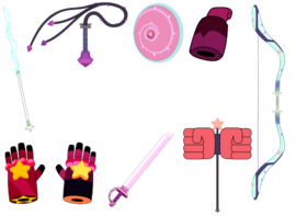 Steven Universe All Crystal Gems Weapons Without Lapis Lazuli
