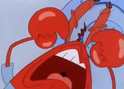 Mr. Krabs snapping about the boots