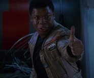 Finn giving BB-8 a thumbs up