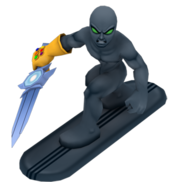 Dark surfer full body